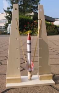 Die fertige Raketenbasis